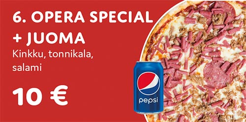 Pizza Opera special + juoma